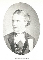 Author photo. Olympia Brown (1835-1926) Buffalo Electrotype and Engraving Co., Buffalo, N.Y.