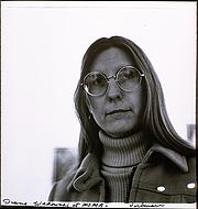 Author photo. Portrait of Diane Wakoski at MOMA by Elsa Dorfman
