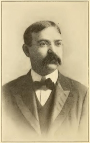 Author photo. Joseph Lincoln Hall. Portrait from page 388 of Biography of Gospel song and hymn writers (1914) by Jacob Henry Hall