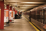 Author photo. Lower level of the New York City Transit Museum, December 2007; photo by Marcin Wichary