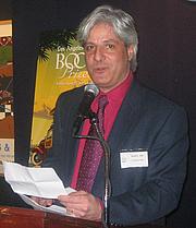 "Author photo. LA Times Book Review editor David Ulin <br>at LA Times Book Prize shortlist party, New York, 2007 <br>  Copyright © 2007 <a href=""http://ronhogan.tumblr.com"">Ron Hogan</a>"