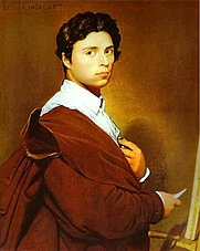Author photo. Self-portrait (1804). In Musée Condé, Chantilly, France.