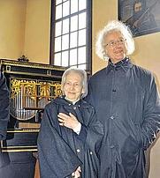 Author photo. Malve Gräfin Rothkirch an ihrem 90. Geburtstag im Februar 2012