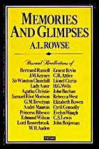 Memories and Glimpses by A. L. Rowse
