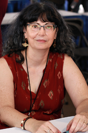 Author photo. Author Martha Wells at the 2018 Texas Book Festival in Austin, Texas, United States. By Larry D. Moore, CC BY-SA 4.0, <a href=&quot;https://commons.wikimedia.org/w/index.php?curid=74221950&quot; rel=&quot;nofollow&quot; target=&quot;_top&quot;>https://commons.wikimedia.org/w/index.php?curid=74221950</a>