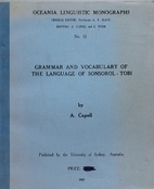 Grammar and vocabulary of the language of…