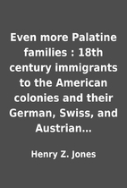Even more Palatine families : 18th century…