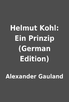 Helmut Kohl: Ein Prinzip (German Edition) by…