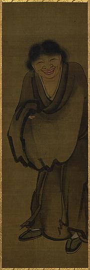 Author photo. Yan Hui, Han Shan 寒山. Color on silk. Tokyo National Museum