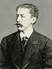 Author photo. Thomas Bailey Aldrich at the age of 32<br>Courtesy of the <a href=&quot;http://digitalgallery.nypl.org/nypldigital/id?102754&quot;>NYPL Digital Gallery</a><br>(image use requires permission from the New York Public Library)