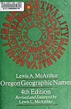 Oregon Geographic Names 4TH Edition Inscibed…