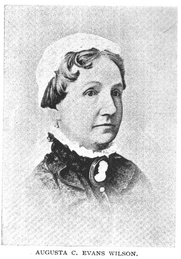 Author photo. Augusta Jane C. Evans Wilson (1835-1909), Buffalo Electrotype and Engraving Co., Buffalo, N.Y.