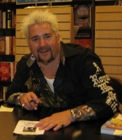 Author photo. Guy Fieri at the Barnes and Noble Bookstore in Huntington Beach California