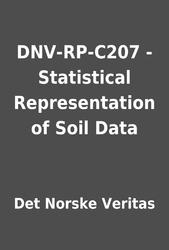DNV-RP-C207 - Statistical Representation of Soil Data by Det