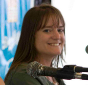 Author photo. Sara Shepard at the Brooklyn Book Festival. Photo by Navdeep Singh Dhillon.