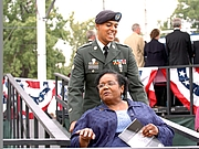 """Author photo. Spc. Jeffrey Stevenson, from the 101st Airborne Division (Air Assault) escorts Little Rock Nine member Melba Pattillo Beals to the newly dedicated Little Rock Central High School National Historic Site Visitor Center after the dedciation ceremony Sept. 24, 2007. Photo by Sgt. 1st Class N. Maxfield Operation Arkansas By The U.S. Army - arkansasUploaded by Gary Dee, CC BY 2.0, <a href=""""//commons.wikimedia.org/w/index.php?curid=17792865"""" rel=""""nofollow"""" target=""""_top"""">https://commons.wikimedia.org/w/index.php?curid=17792865</a>"""