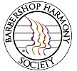Author photo. Official logo of the Barbershop Harmony Society