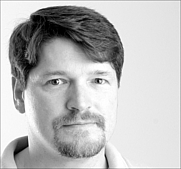 Author photo. Bruce Bethka, science fiction author, in 2001. Photo by Oleg Volk