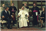 Author photo. Pope Paul VI meeting with Richard Nixon at the Vatican, 29 Sep. 1970.  Photo by Robert L. Knudsen.  From the National Archives via pingnews at Flickr.