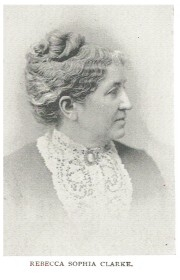 Author photo. Rebecca Sophia Clarke [aka Sophie May] (1833-1906)  Buffalo Electrotype and Engraving Co., Buffalo, N.Y.