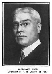 Author photo. Photo found at <a href=&quot;http://en.wikipedia.org/wiki/Wallace_Rice&quot; rel=&quot;nofollow&quot; target=&quot;_top&quot;>Wikipedia</a>