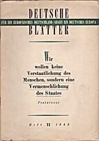 Deutsche Blätter. Heft 11. 1943 by Udo…