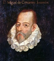 Author photo. Portrait of Miguel de Cervantes Saavedra by Juan de Jáuregui.<br>