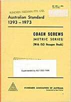 AS 1393 - 1973: Coach Screws - Metric Series…