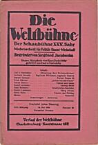 Die Weltbühne. XXV. Jahrgang. 14. Mai 1929.…