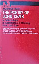 The Major Poems of John Keats (Monarch Notes…
