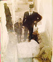 Author photo. Selim Hassan and his youngest son, Ahmed on site [credit: Selim Hassan Family]