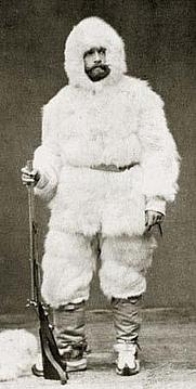Author photo. Julius Payer in winter gear [source: hu.wikipedia]