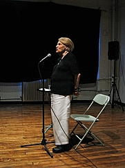 Author photo. Annette Michelson at Light Industry, Brooklyn, August 2009