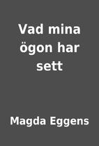 Vad mina ögon har sett by Magda Eggens