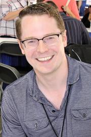 Author photo. Bennett at the 2017 Texas Book Festival