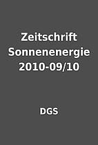 Zeitschrift Sonnenenergie 2010-09/10 by DGS