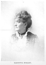 Author photo. Marietta Holley [aka Josiah Allen's Wife] (1836-1926), Buffalo Electrotype and Engraving Co., Buffalo, N.Y.