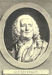 Author photo. Alexis Piron. Frontispiece from Oeuvres complettes d'Alexis Piron (1776)