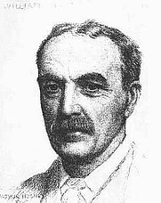 Author photo. William Hale White, a 1887 crayon drawing by Arthur Hughes (1831–1915).
