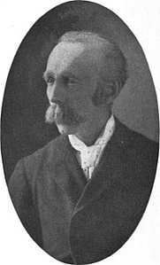 Author photo. Image from <b><i>Euphrates, and other poems</i></b> (1916) by Edward Clarence Farnsworth