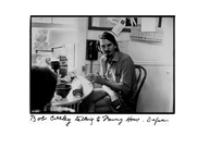 Author photo. Portrait of Rober Creeley taken by Elsa Dorfman (http://elsa.photo.net) in 1972 in her Flagg St Kitchen.