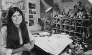 Author photo. In her studio in 1983.