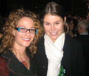 """Author photo. Novelists Robin Epstein and Bridie Clark (on right) <br> meet at the 2006GalleyCat holiday party  <br>Copyright © 2006 <a href=""""http://ronhogan.tumblr.com"""">Ron Hogan</a>"""