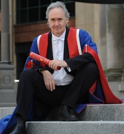 Author photo. Honorary Graduation with Doctorate of Arts from Edinburgh Napier University. Credit: Wikipedia author JN1550.