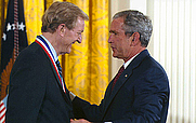 Author photo. Gordon H. Bower receives the National Medal of Science (National Science Foundation)