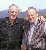 Author photo. Daniel Lenihan (on right) with Gene Hackman.  
