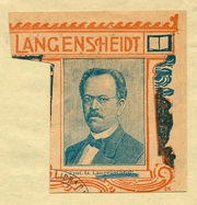 """Author photo. Gustav Langenscheidt.  Courtesy of the <a href=""""http://digitalgallery.nypl.org/nypldigital/dgkeysearchdetail.cfm?trucID=1028782&imageID=1552756""""> NYPL Digital Gallery </a> (image use requires permission from the New York Public Library)"""