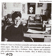 """Author photo. Source: Page 469 of the 1992 book """"She's a Rebel: The History of Women in Rock & Roll, 1st ed."""" by Gillian G. Gaar in the book I own: <a href=""""http://www.folklib.net/index/discog/bibliog12.shtml#cd"""" rel=""""nofollow"""" target=""""_top"""">http://www.folklib.net/index/discog/bibliog12.shtml#cd</a>"""