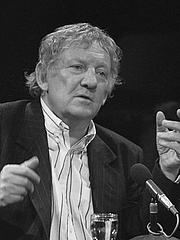 Author photo. Hugo Claus in Vlaams Cultureel Centrum, november 15 1986