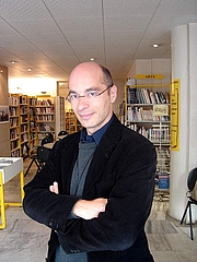 Author photo. The Writer Bernard Werber in the French Institute in Sofia, Bulgaria